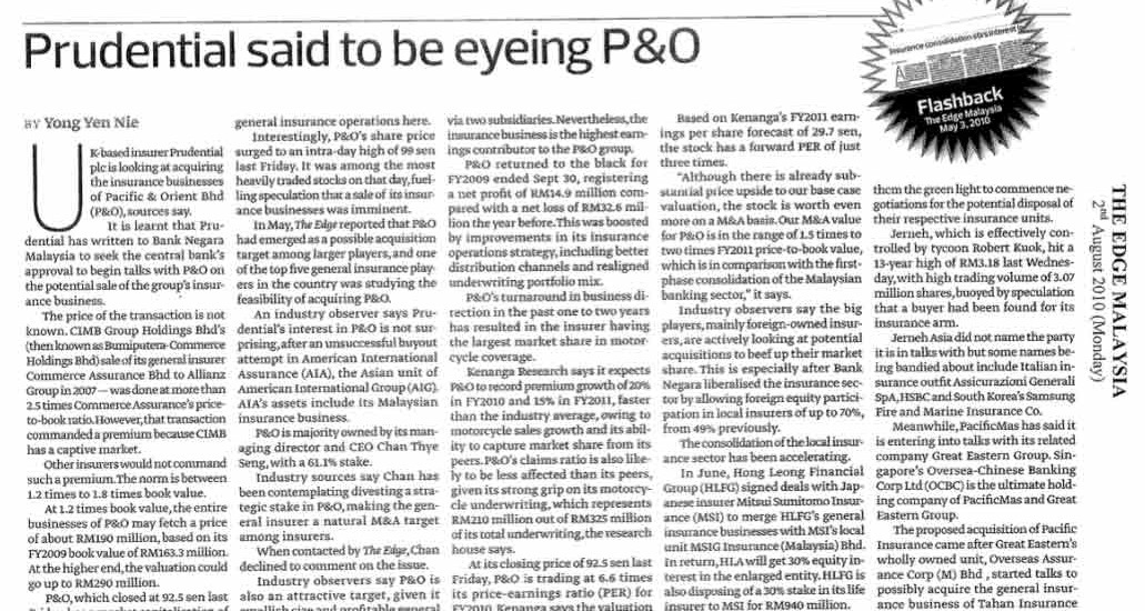 Prudential-said-to-be-eyeing-P&O