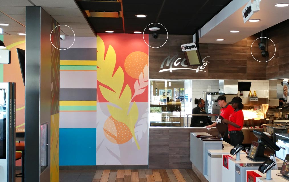mcdonalds-security-camera-intallation-to-restaurant-indoor